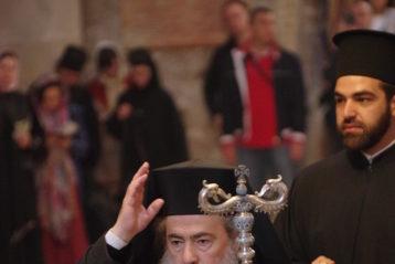 9 апреля. Патриарх Иерусалимский Феофил III (фото Алексея Козориза)