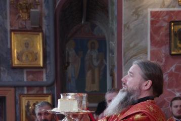 17 мая. Божественная литургия в Троицком соборе Свято-Троицкого Серафимо-Дивеевского монастыря (фото Алексея Козориза)