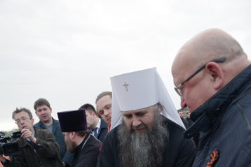 6 мая. Закладка Духовно-просветительского центра в честь преподобного Сергия Радонежского (фото Алексея Козориза)