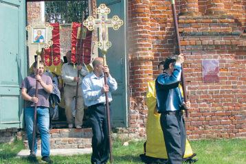 Начало крестного хода в селе Развилье