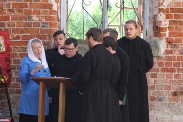 Хор Нижегородской духовной семинарии под управлением регента Натальи Мякиной