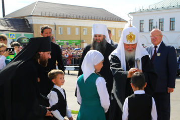 13 августа. Визит Святейшего Патриарха Кирилла в город Арзамас (фото Сергея Лотырева)