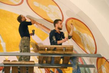 23 августа. Роспись нижнего храма собора в честь Воскресения Христова (фото Сергея Лотырева)
