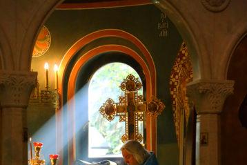 25 сентября. На подворье Серафимо-Дивеевского монастыря в Москве (фото Сергея Лотырева)
