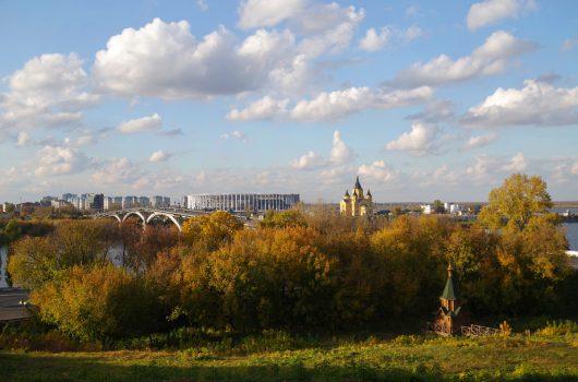 11 октября. Вид на Стрелку (фото Алексея Козориза)