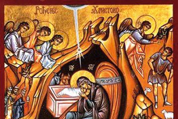 Рождество Христово. Современная икона (Сербия)