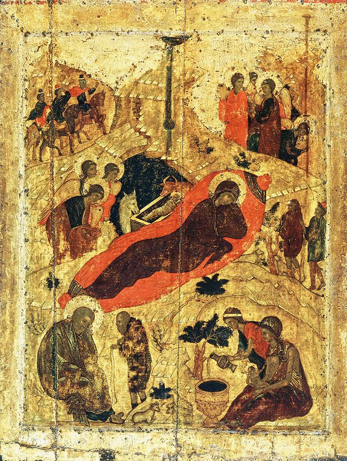 Рождество Христово. Икона Андрея Рублева. 1405 г.