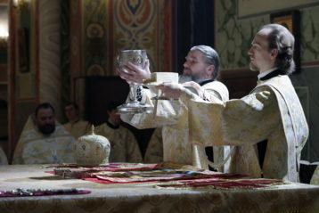 7 января. Божественная литургия в Александро-Невском кафедральном соборе (фото Алексея Козориза)