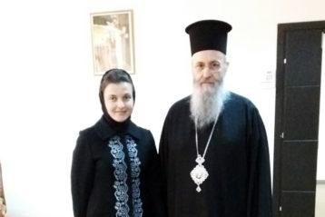 С митрополитом Иерофеем Влахосом (Греция)