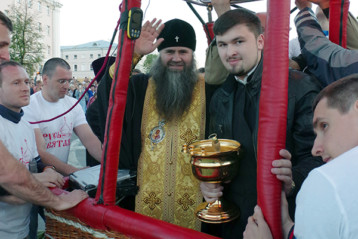 Перед освящением Нижнего Новгорода с воздуха