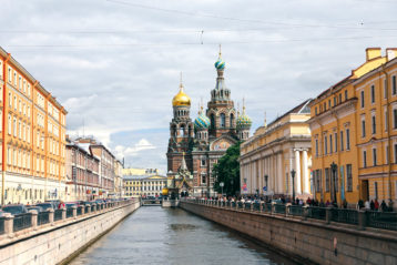 Спас на Крови. Вид со стороны канала Грибоедова