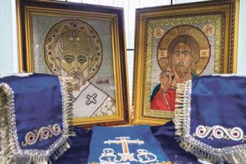 В.А. Игонина. Иконы «Николай чудотворец» и «Спаситель»