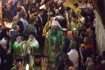 1 апреля. Божественная литургия в Храме Гроба Господня в Иерусалиме (фото Алексея Козориза)