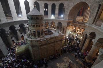 1 апреля. Кувуклия Храма Гроба Господня в Иерусалиме (фото Алексея Козориза)