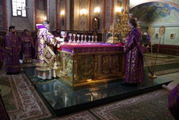 4 марта. Божественная литургия в Александро-Невском кафедральном соборе (фото Алексея Козориза)