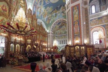 13 апреля. Пасхальный хоровой собор в Александро-Невском кафедральном соборе (фото Алексея Козориза)