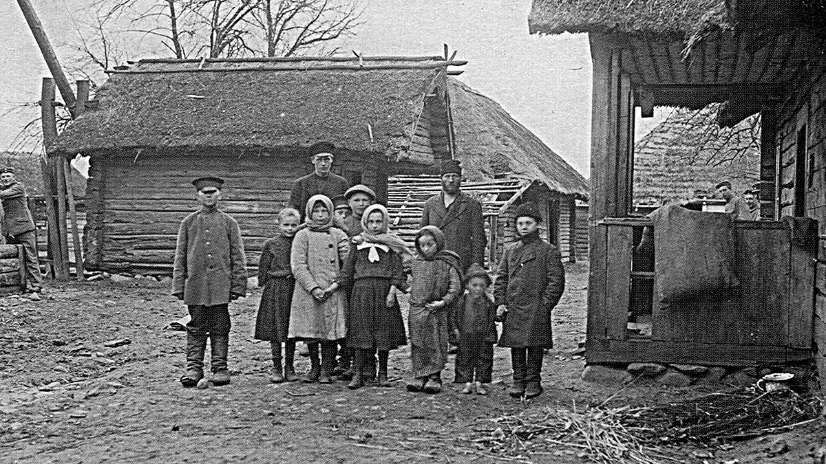 Плоска. Брестский район. Белорусская семья. 1916 год