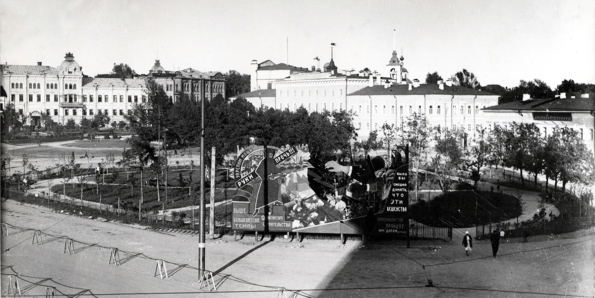 На месте снесенного Алексеевского храма