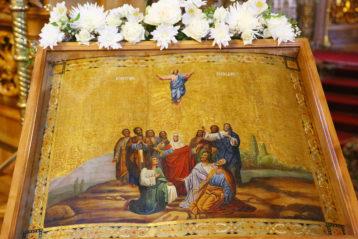 20 мая. Икона Вознесения Господня в Троицком соборе Дивеевского монастыря (фото Сергея Лотырева)
