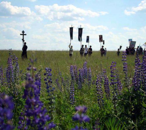23 июня. Ежегодный крестный ход, посвященный памяти погибших воинов в Дальнеконстантиновском благочинии (фото Молитовского благочиния)