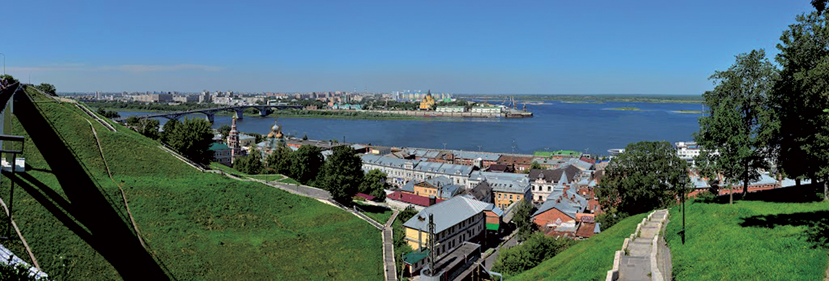 Вид на Стрелку с набережной Федоровского