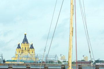 13 июля. Во время водного похода Ушаковской дружины в Макарьевский монастырь (фото Канавинского благочиния)