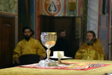15 июля. Во время Божественной литургии в Александро-Невском кафедральном соборе (фото Сергея Лотырева)