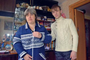 Марина Громова (Тихонова) и сын Валерий