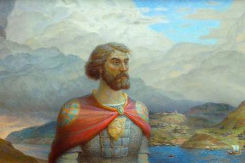 Князь Владимир - Креститель Руси, холст, масло. Владимир Занога, 2015