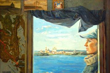 По Белому морю. Соловки, холст, масло. Мария Занога, 2009