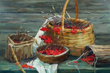 Спелые гроздья калины. Мария Занога, 2012