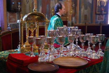 15 января. Во время Божественной литургии в Троицком соборе Дивеевского монастыря (фото Сергея Лотырева)