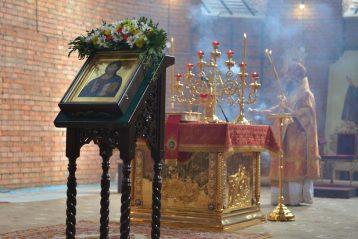26 сентября. Божественная литургия в Воскресенском соборе Дзержинска (фото Воскресенского благочиния Нижегородской епархии)