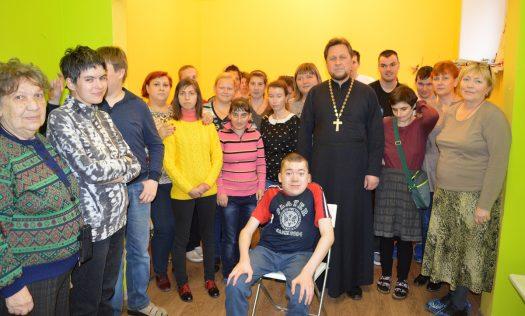 Представители Нагорного благочиния посетили организацию детей-инвалидов и их родителей «Луч»