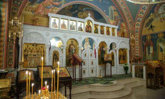 Митрополит Георгий возглавил Божественную литургию на подворье Серафимо-Дивеевского монастыря в Москве