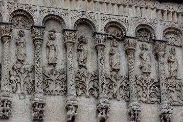 Белокаменные рельефы на стене Дмитриевского собора