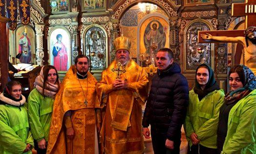 Епископ Балахнинский Илия совершил Божественную литургию в Сергиевском села Тепелево Дальнеконстантиновского района