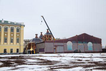 16 января. Восстанавливаемый Никольский храм Нижегородского кремля (фото Александра Чурбанова)