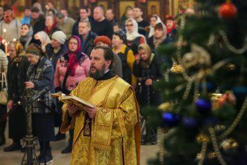 5 января. Во время Божественной литургии в Александро-Невском кафедральном соборе (фото Александра Чурбанова)