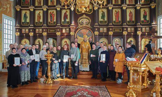 Епископ Варнава встретился с участниками II зимнего туристического слета добровольцев Выксунской епархии