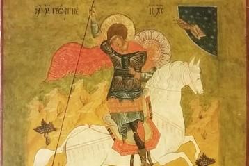 Икона святого Георгия Победоносца. Написана С. А. Акимовой
