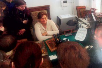 Со студентами вАкадемии Ильи Глазунова