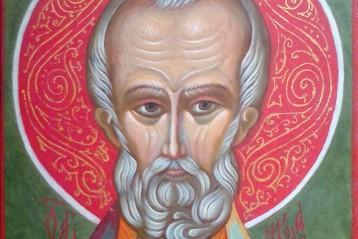 Икона святителя Николая, чудотворца Мирликийского. Написана С. А. Акимовой