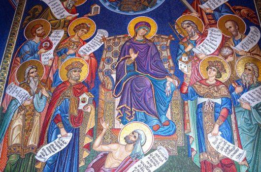 9 апреля. В Благовещенском соборе Серафимо-Дивеевского монастыря (фото Виолетты Калашниковой)