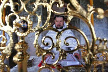 13 июня. Первая за 83 года Божественная литургия в Вознесенском храме села Большого Терюшева (фото Бориса Поварова)