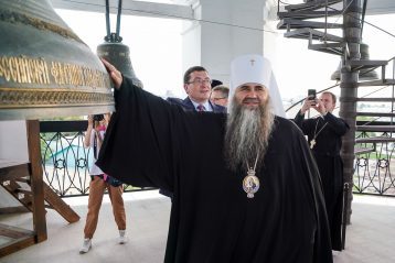 30 июля. На колокольне Нижегородского кремля (фото Александра Чурбанова)
